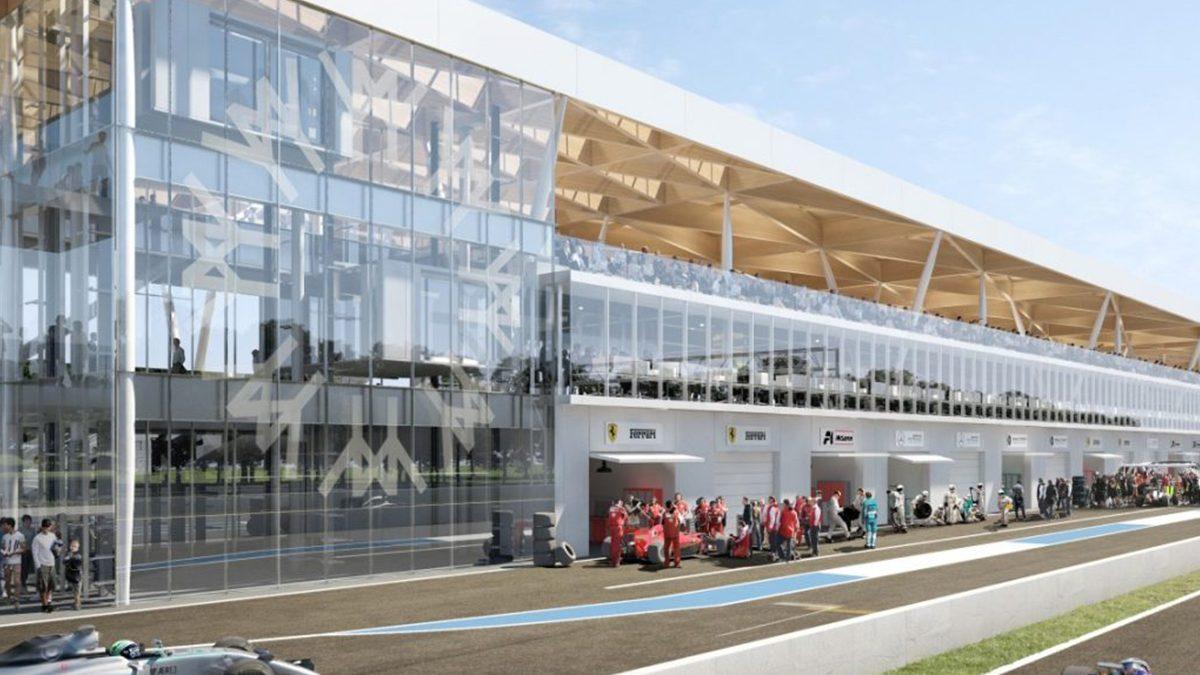 The paddocks of the circuit Gilles-Villeneuve